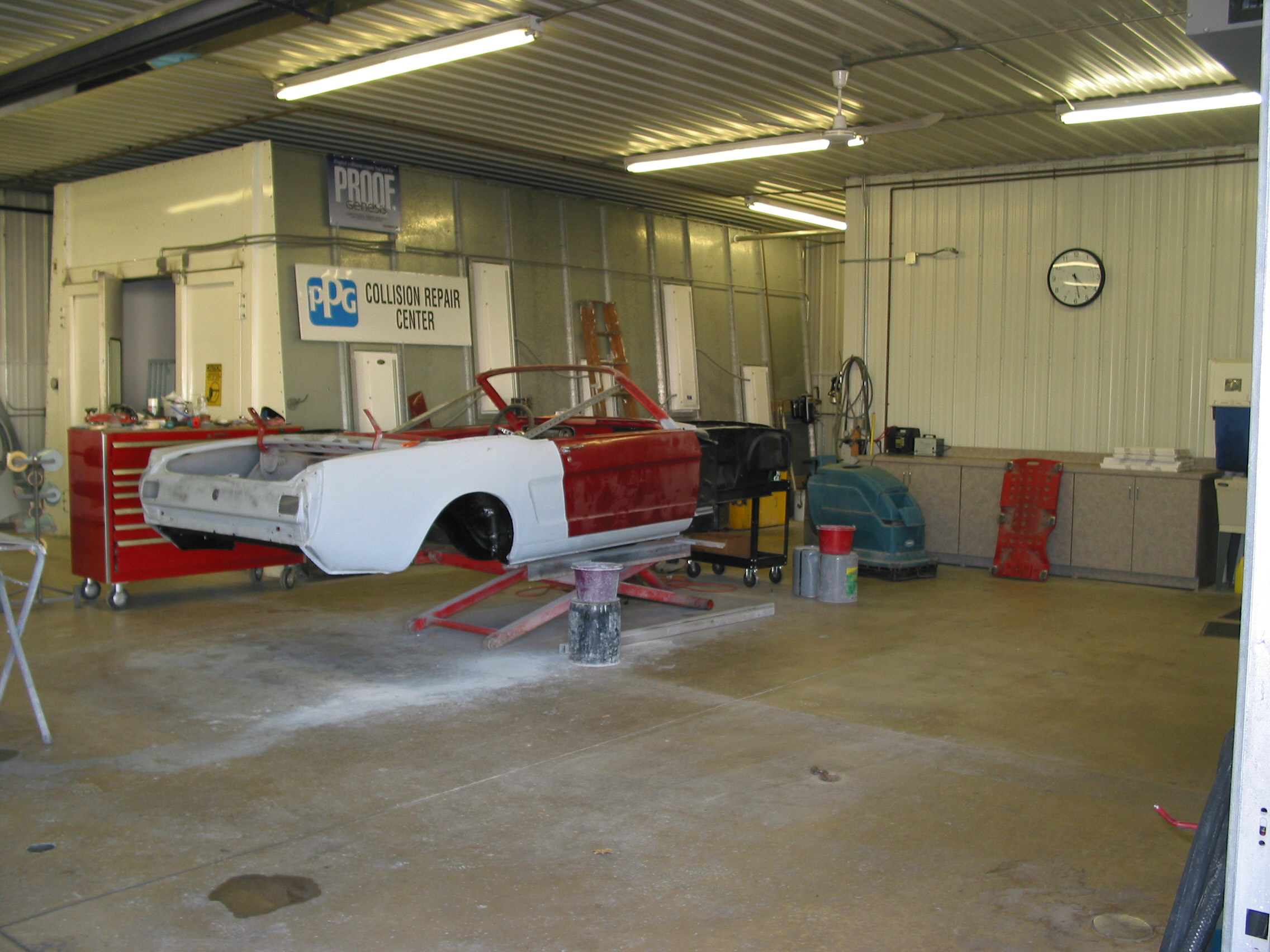Wesner Auto Body Inside the Shop